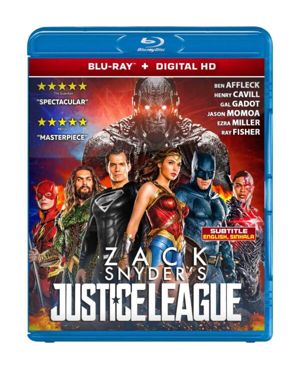Zack Snyder's Justice League bluray