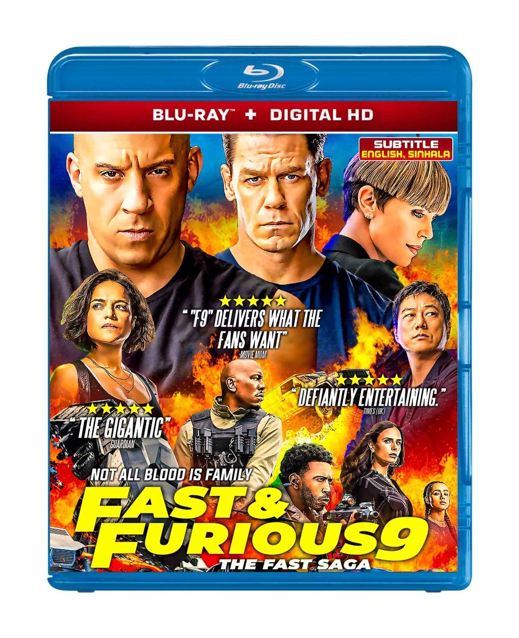 F9: The Fast Saga (Blu-ray 2021) Region free !!! - Blu-Ray Movies