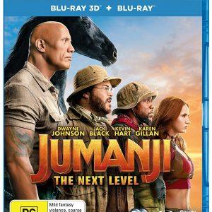 Jumanji: The Next Level (3D Blu-ray 2019) Region free !!!